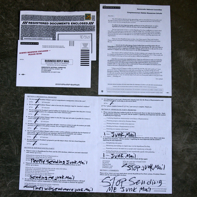 how to receive junk mail