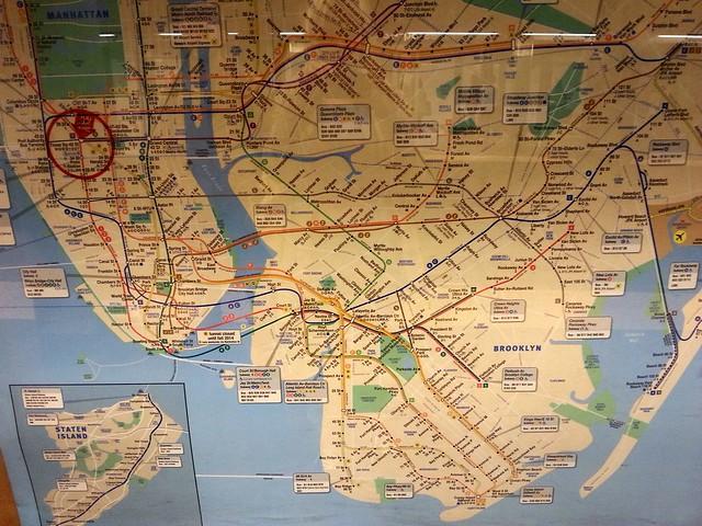 Карта метро Нью Йорка