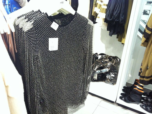 H&M A/W 2014 Studio Collection all-over beaded black top