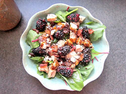 Blackberry, Bacon Blue Cheese Salad w Honey Balsamic Vinaigrette 2