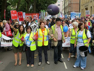 London NHS campaigners join the People's March for the NHS