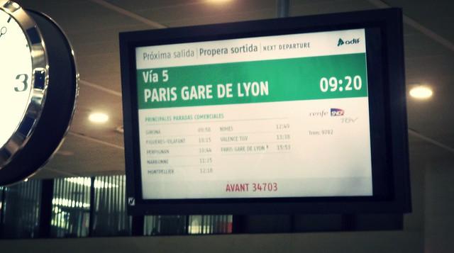 Como é o trem rápido entre Barcelona e Paris