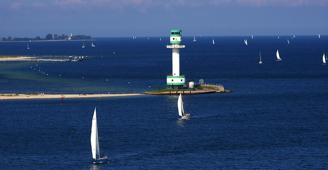 Sailing out from Kiel, Germany - en route to Oslo, Norway