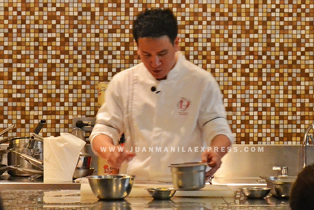 ENDURUN COLLEGES BEST. Senior Chef Martin Punzalan prepares the ingredients for the featured meal.