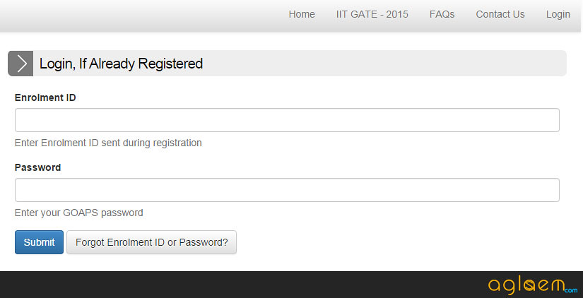 GATE 2015 Admit Card (IIT) - Download Admit Card / Hall Ticket