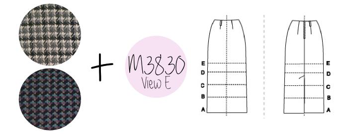 McCall's 3830 Straight Skirt