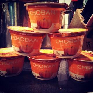 I found it, I found it!!! #pumpkin #pumpkinspice @chobani #greekyogurt #chobani