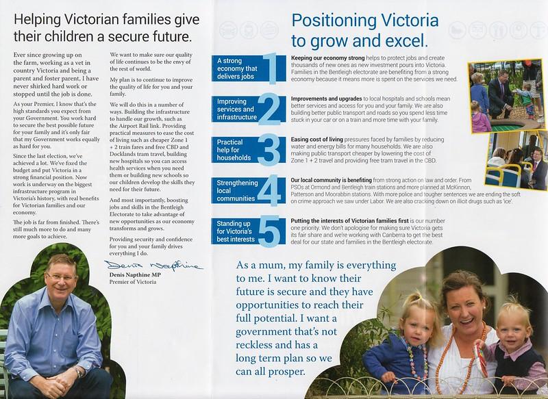 Liberal flyer, September 2014 (back)