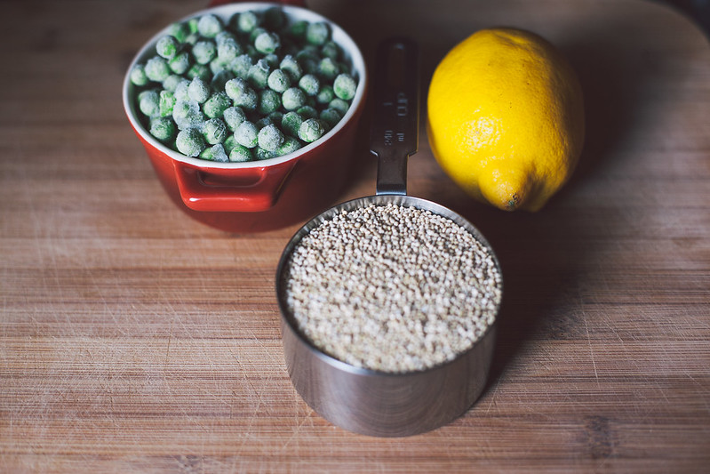 Quinoa com Ervilha