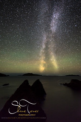 Dunquin Pier with the Milky Way & Aurora Lights