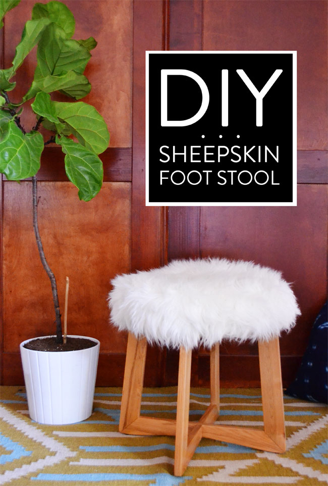 DIY-Sheepskin-Foot-Stool