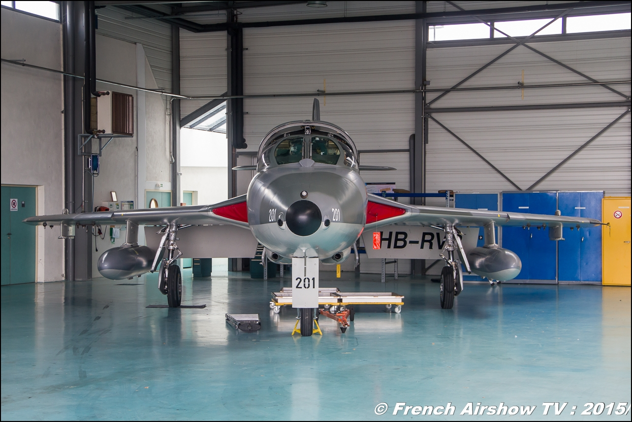 Hunter suisse hangar,Fly'in Saint-Yan 2015,Fly in LFBK 2015, Meeting Aerien 2015