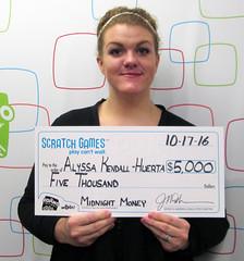 Alyssa Kendall-Huerta - $5,000 Midnight Money