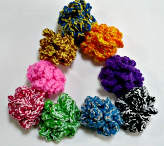 Crochet Cat Toys - Scrunch balls