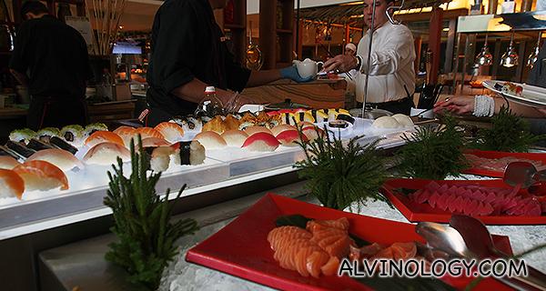Fresh sushi and sashimi