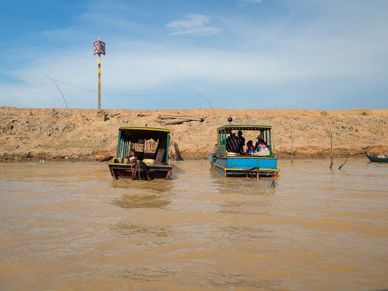 Boats in dry season