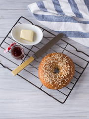 Fresh-Baked Bagel for One