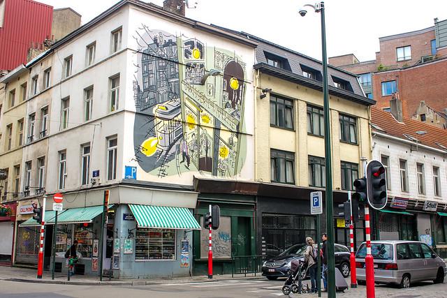 Monsieur Jean - Dupuy y Berberian (diciembre de 2002). Cruce de Rue des Bogards/Bogardenstr. y Rue du Midi/Zuidstraat