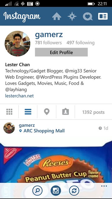 Nokia Lumia 930 - Instagram