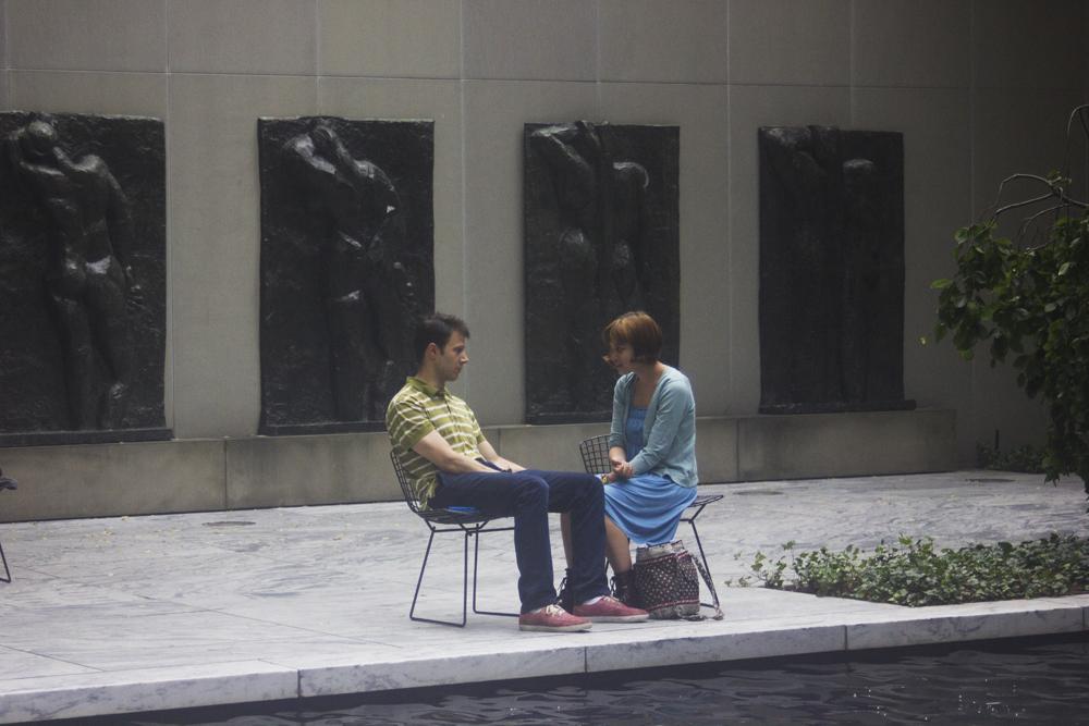 MoMA statue garden outside New York Museum of Modern Art Laila tapeparade blog