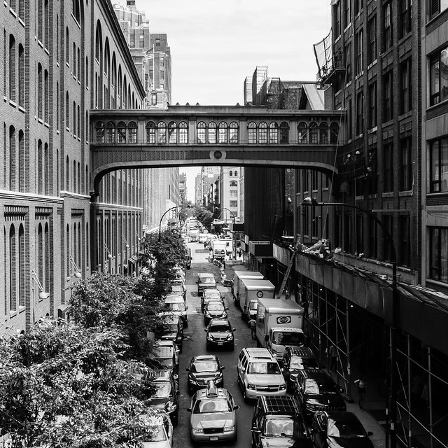 Looking east from the High Line