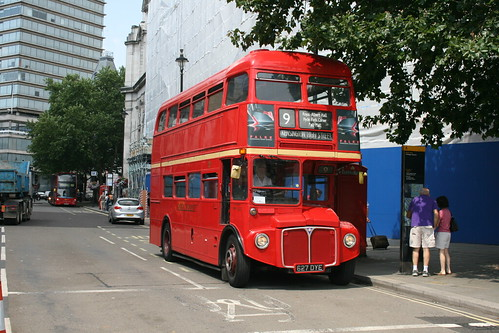 Tower Transit RM1627 on Route 9H, Trafalgar Square - Last Day of Routemasters on Route 9H
