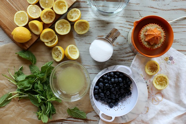 Fresh Blueberry Mint Lemonade - Version 2