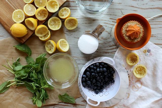 Fresh Blueberry Mint Lemonade - Version 2
