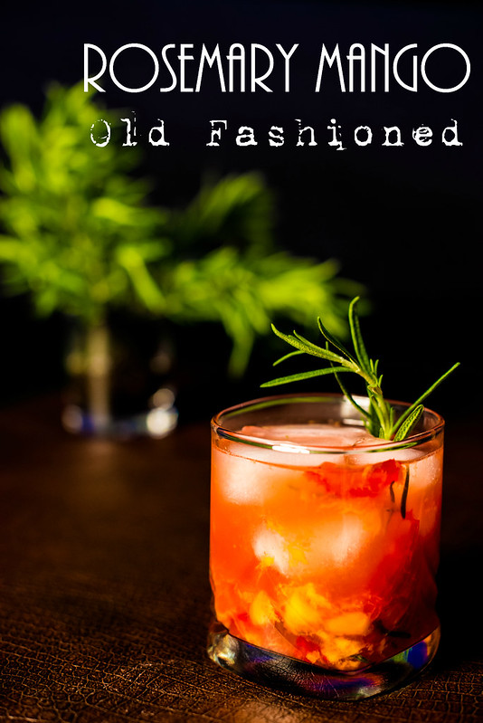 rosemary mango old fashioned recipe #sweetnlowstars in_the_know_mom