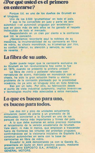Catálogo Grumett de Uruguay (fragmento)