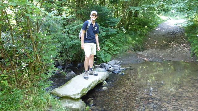 038 Gué à pierres plates sur la rivière de Gloire, Saussemesnil