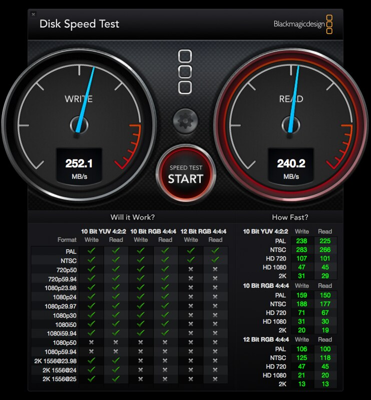 Seagate Backup Plus Fast - Disk Speed Test