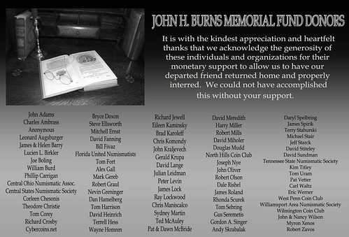 BURNS Memorial Thank You ad