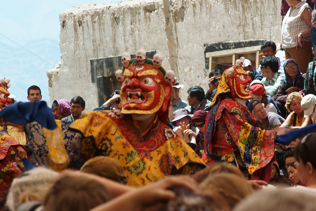 Cham dance, festival at Takthok Gompa. Ladakh, 06 Aug 2014. N012
