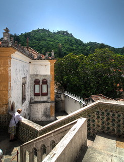 Kuva Sintra National Palace. summer portugal stairs view july medieval tiles moorishcastle pentaxk30 samsung1224mmf4