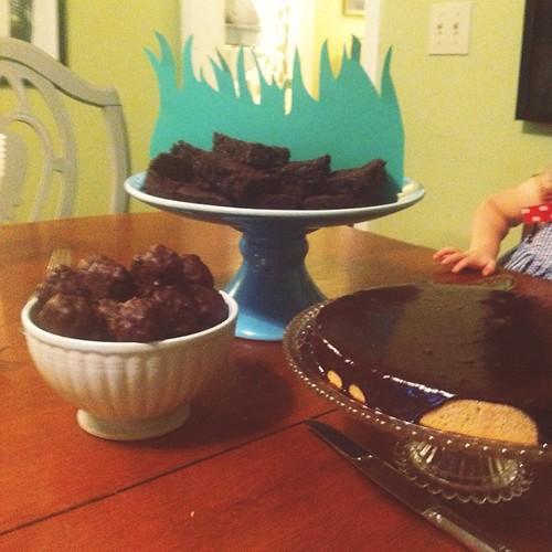 Stephan's birthday spread.