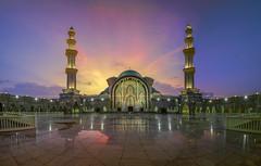 Masjid Wilayah Sunset Panorama