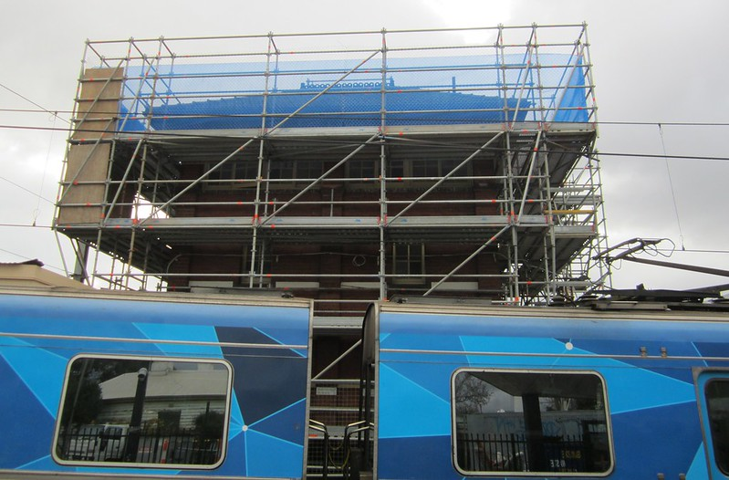 Signal box being restored at Footscray station