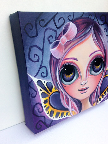 """Midnight Purple Fairy"" Painting by Jaz Higgins"