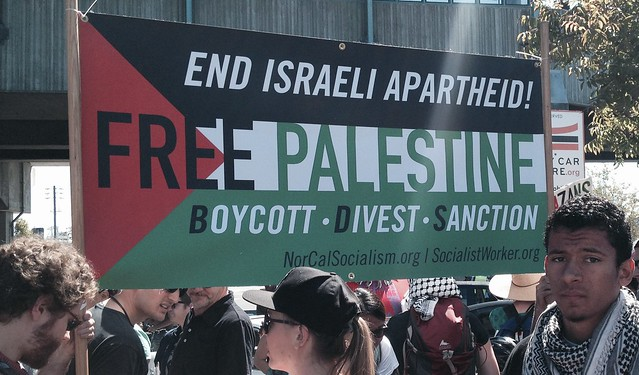 End Israel Apartheid-Free Palestine-Boycott Divest Sanction