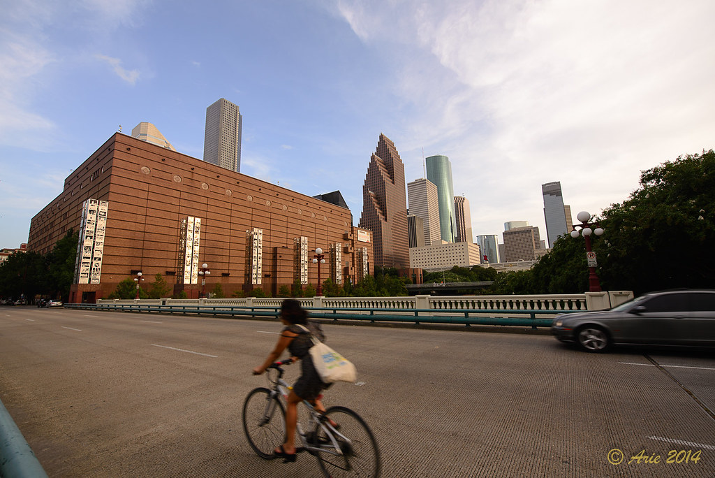 Preston Ave Bridge over Buffalo Bayou at the Wortham