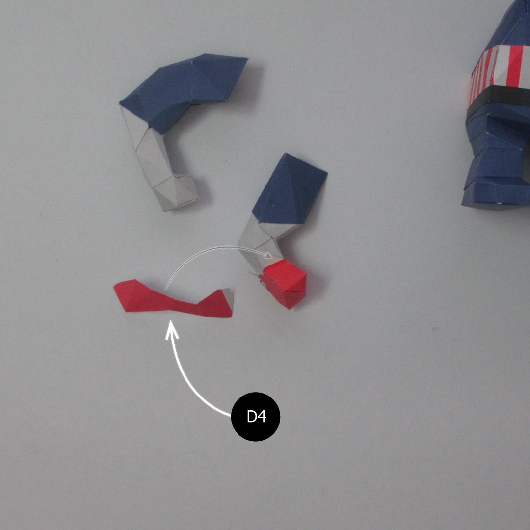วิธีทำของเล่นโมเดลกระดาษกับตันอเมริกา (Chibi Captain America Papercraft Model) 020