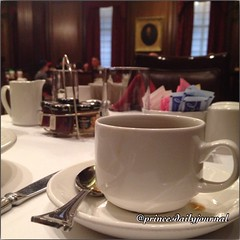 Morning Coffee Ed.: Omni Parker House. This is some good coffee. I was surprised when I first took a sip from it. www.princesdailyjournal.com #princeinthecity #princesdailyjournal #coffee #networking #work #study #play #entrepreneur #boston #myfab5 @bestf