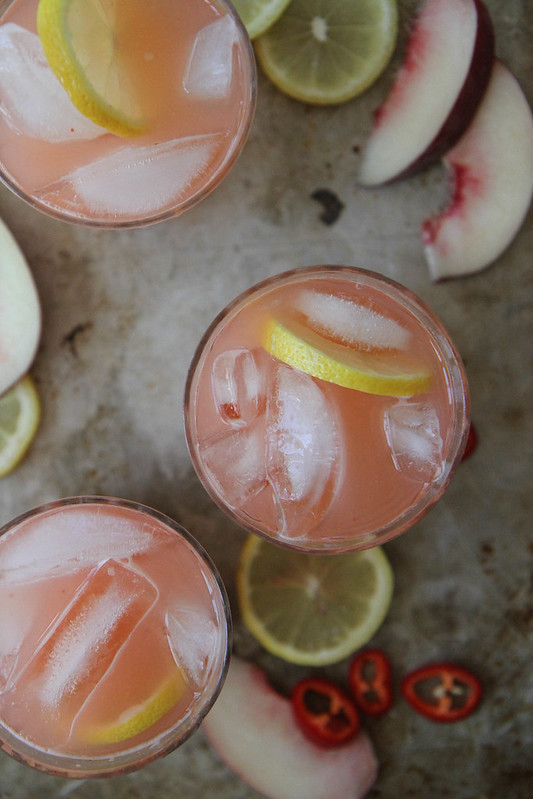 Spicy White Peach Lemonade