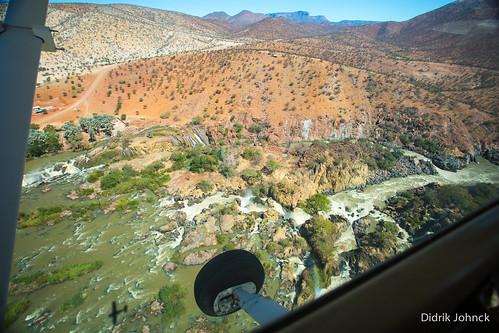 Flying over Epupa Falls