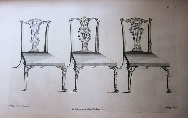chippendale chairs plate xii