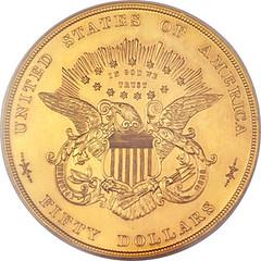 Half Union patterin in gilt copper reverse