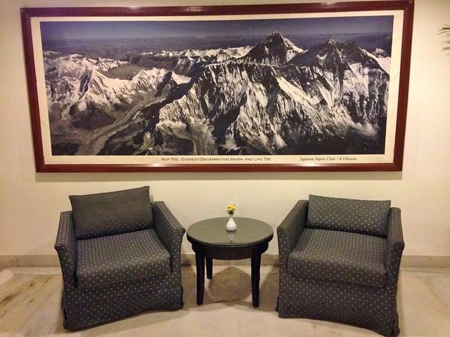 A photo of Sagarmatha National Park at the Lobby of the Hotel Himalaya, Kathmandu