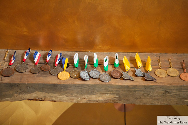 Awards won over the years at Inspire Moore Winery