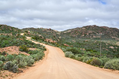 The steep road up to Leliefontein, South Africa